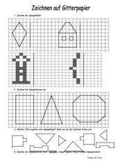 Zeichnen auf Gitterpapier- Geometrie