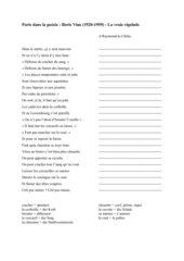 Paris dans la poésie : Boris Vian (1920-1959) : La vraie rigolade