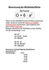 Berechnung der Würfeloberfläche_Folie