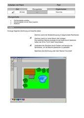 Arbeiten mit Microsoft Paint
