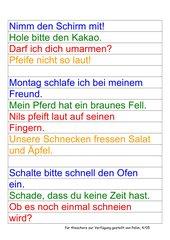 Spiel Bunte Sätze, Teil 2