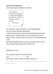 Brief an den Maulwurf - Fortsetzungsgeschichte