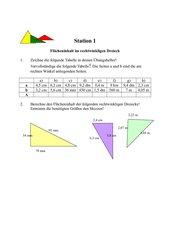 Lernen an Stationen zur Berechnung von Dreiecksflächen