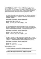 Akkumulatoren - Arbeitsblatt
