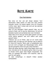 Gelbe Karte Grundschule.4teachers Lehrproben Unterrichtsentwürfe Und Unterrichtsmaterial