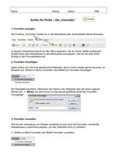 Internet - Favoriten anzeigen, hinzufügen, verwalten