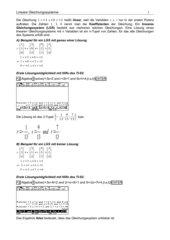 Lineare Gleichungssysteme lösen mit Hilfe des TI-92 / Voyage 200