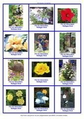 Fleißkärtchen mit Blumen