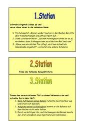 Grammatikstation für 9. Klasse