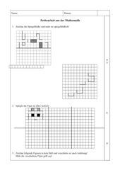 Geometrie Probearbeit 4. Klasse