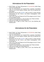 Informationen zum Präsentieren