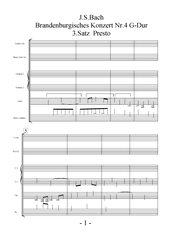 J. S. Bach, Brandenburgisches Konzert Nr. 4 G-Dur 3. Satz