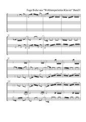 J. S. Bach Wohltemperiertes Klavier 1, Fuge B-Dur