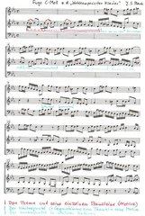 J. S. Bach Wohltemperiertes Klavier 1 Fuge c-Moll