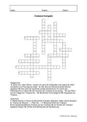 Toskana-Kompakt - Ein Kreuzworträtsel