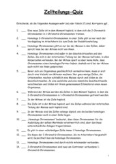 Zellteilungs-Quiz