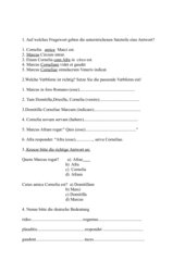 1. Klassenarbeit zu Cursus novus