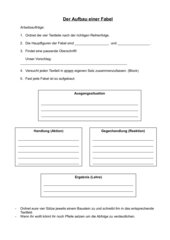 Deutsch Arbeitsmaterialien Aufbaumerkmale Fabel 4teachersde