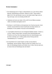 Textaufgaben 4.Klasse Grundschule mit Lösungen