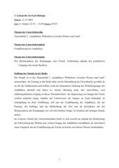 Die Metamorphose der Kaulquappe zum Frosch, Kl. 7