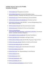 Nützliche Internet-Adressen für Word