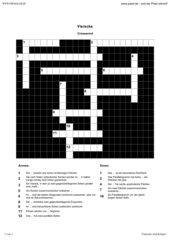 Kreuzworträtsel zum Thema