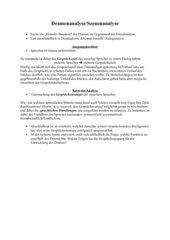 Handout Dramen/Szenenanalyse