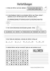 Herbst oder Halloween
