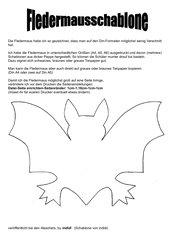 Bastelvorlage - Fledermaus (Schablone)