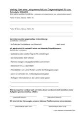Vertrag über eine Lernpatenschaft auf Gegenseitigkeit