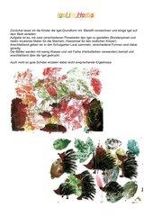 Igel im Herbst -  Malen und Drucken