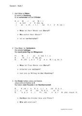 DaF - Arbeitsblatt Text - Stufe 1