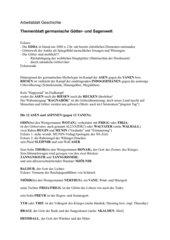 Arbeitsblatt germanische Götter- und Sagenwelt