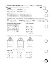 1. Probearbeit aus der Mathematik (3. Klasse Bayern)