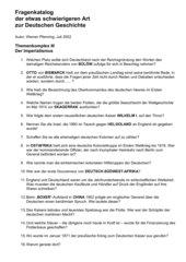 24 schwierige Fragen zur deutschen Geschichte - Imperialismus