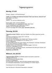 Material zum Klassenlager (Ideen fürs Lagerprogramm)
