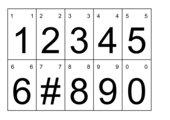 Zahlkarten 0-9 mit Schlüsselring