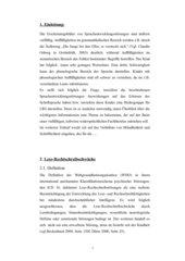 LRS und Sprachbeeinträchtigung