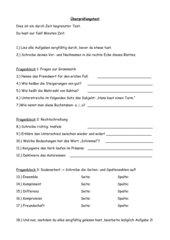 Aufgaben Lese Test
