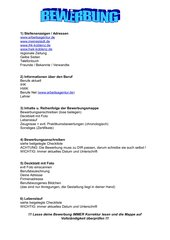 Checkliste für Bewerbungen