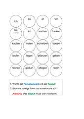 Wörter und Sätze würfeln