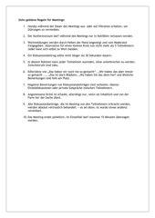 Zehn goldene Regeln für Meetings