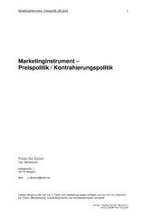 Marketinginstrument - Preispolitik