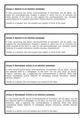 Animal Farm - The Seven Commandments