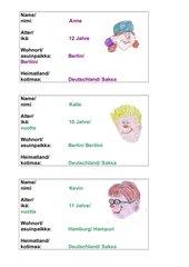Personenkarten zum Kennenlernen
