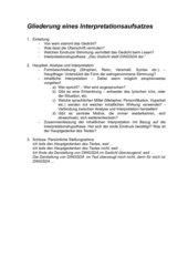 Struktur Gedichtinterpretation/ Bewertungsraster Gedrichtinterpretation