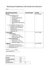 Bewertungsbogen Projektordner