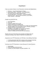Folien aus anderen Dateien nach PPT; Masterfolie und Web-Auftritt