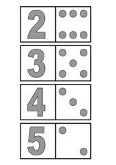 Zahlen/Würfelbild- Domino Zahlenraum 1-6