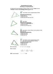 Dreiecksberechnungen